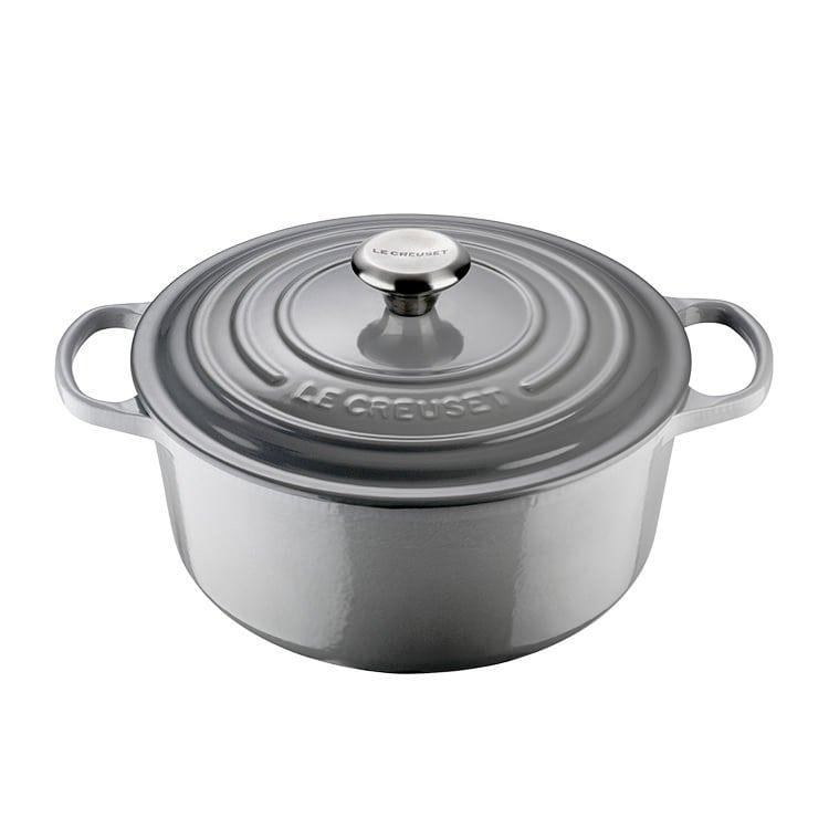 Le Creuset Cast Iron Casserole - Mist Grey 24cm 4.2L - The Butler ... 54372459a7dc