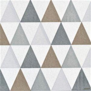 Paviot Napkin Losange Silver Triangle