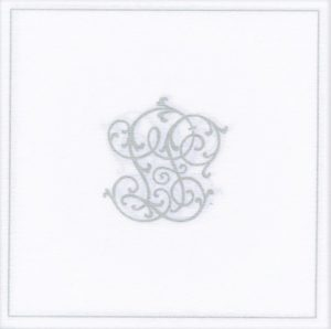 Paviot Napkin Monogram Silver