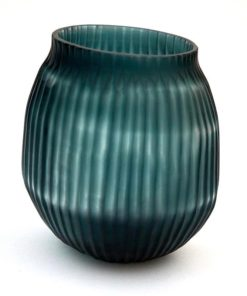 Bison Bt Glass Vase Small Petrol
