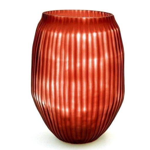 Cut Glass vase M blood orange